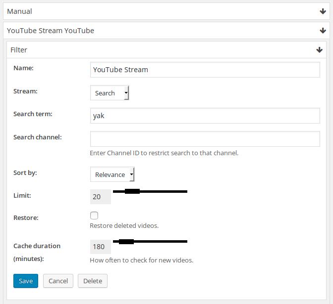 YouTube-stream-filter